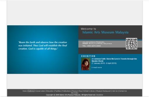 Laman web Muzium Kesenian Islam